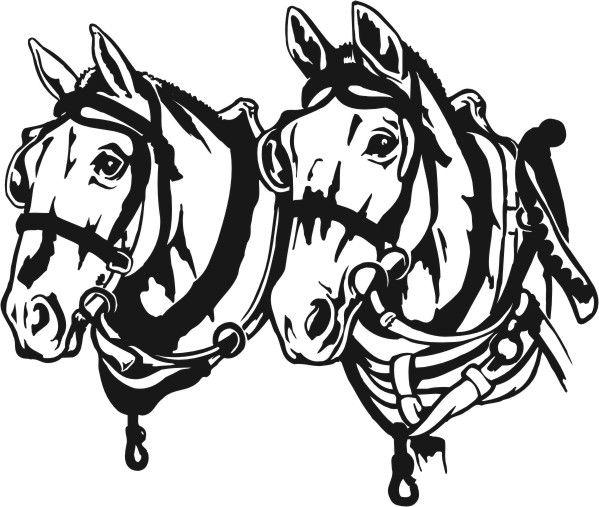 Draft Horse Team Clipart #1.