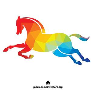 8294 draft horse silhouette clip art.