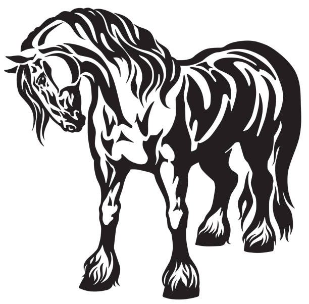 Best Draft Horse Illustrations, Royalty.