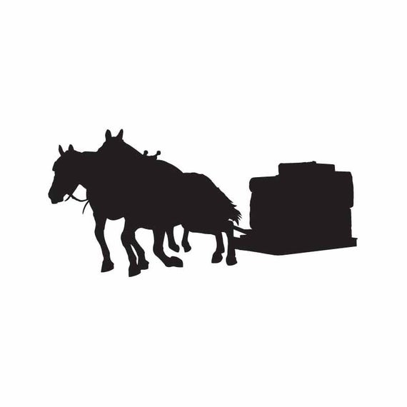 Draft Horse silhouette INSTANT DOWNLOAD 1 vector .eps & 1 .png Vinyl Cutter  Ready, T.
