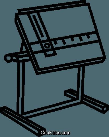 drafting table Royalty Free Vector Clip Art illustration.