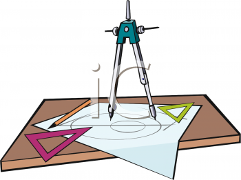 Royalty Free Clipart Image: Drafting Compass Making a Circle.