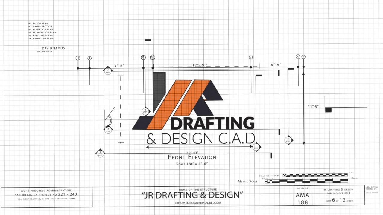 JR DRAFTING & DESIGN LOGO REVEAL.