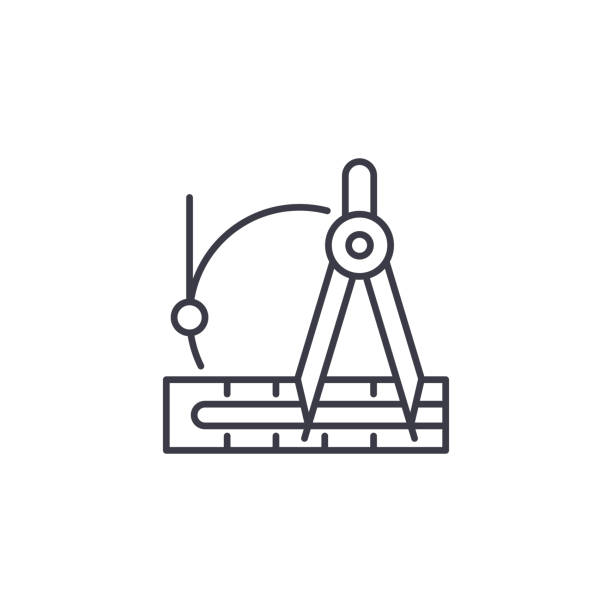 Best Drafting Tools Illustrations, Royalty.