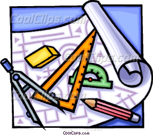 drafting tools Vector Clip art.