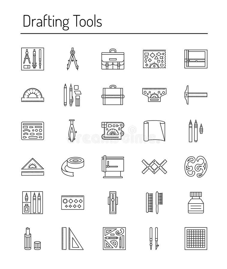 Drafting Tools Stock Illustrations.