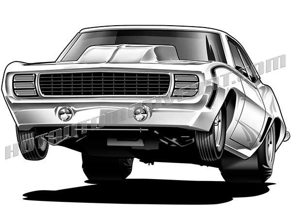 Drag Car Clipart.