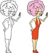 Drag Queen Clip Art.