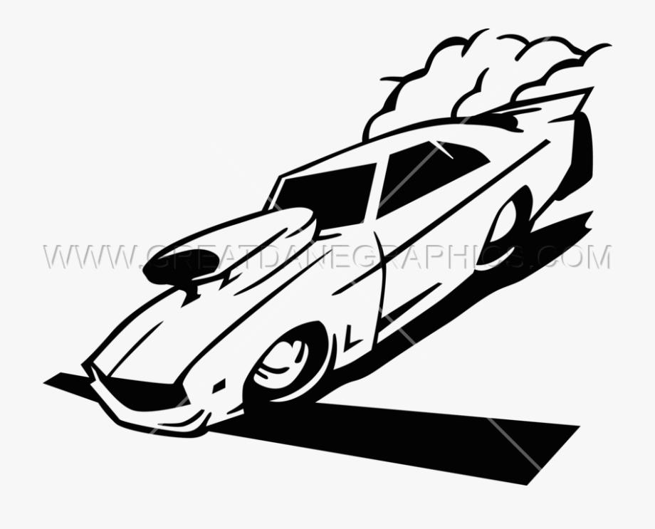 Drag Car Racing Production Ready Artwork For T Shirt.