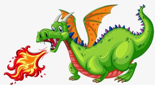 12594 Dragon free clipart.