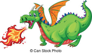 Dragon Clipart With Fire.