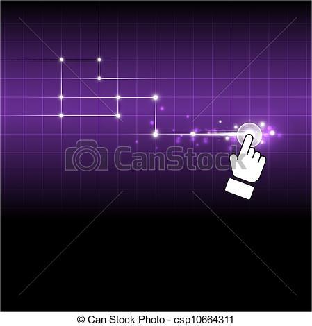 Vector Clip Art of hand drag net button csp10664311.