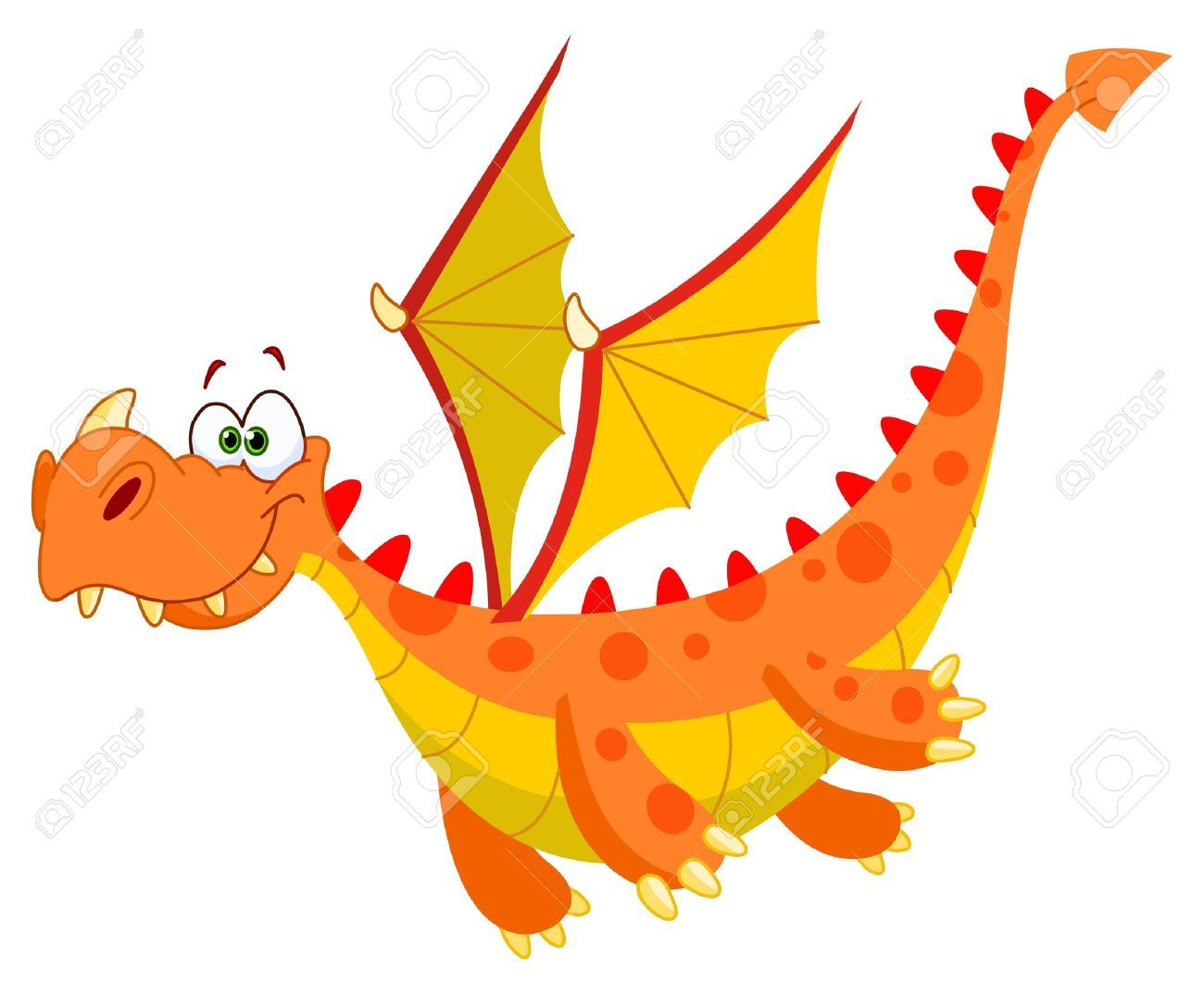 Flying Dragon Clipart.