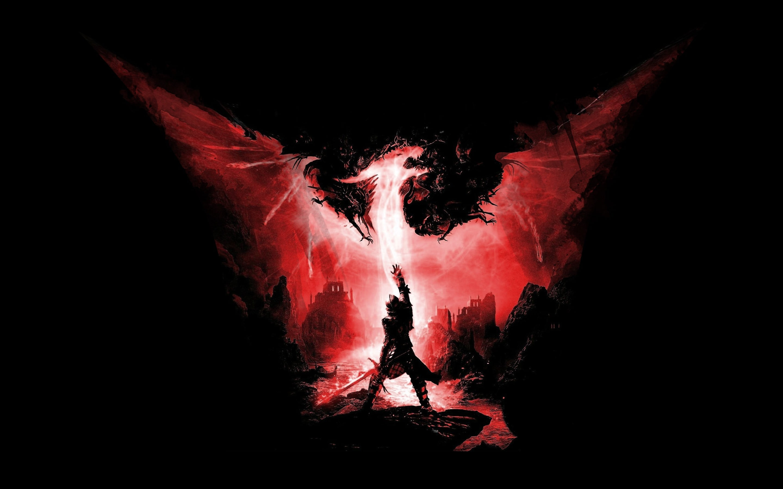 Red dragon logo, Dragon Age Inquisition, Dragon Age, video.