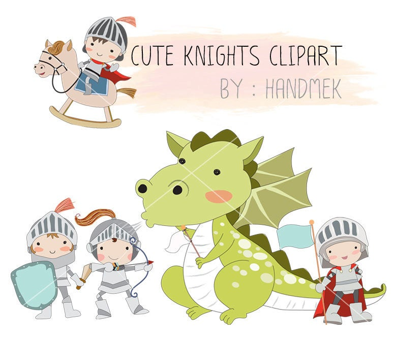 Knights Clipart, dragon clipart Instant Download PNG file.