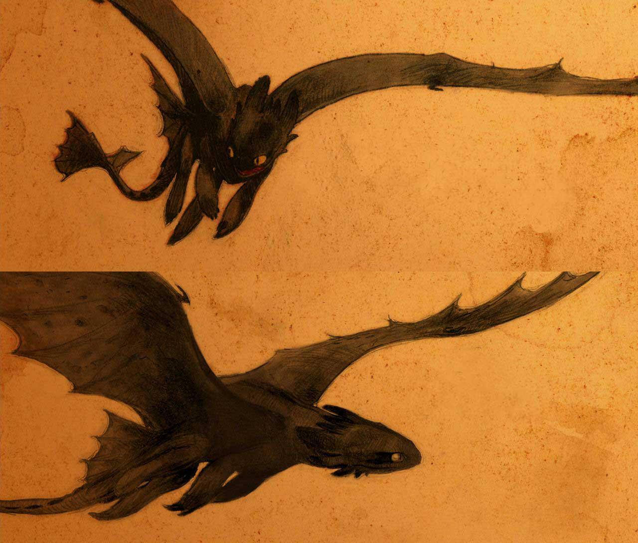 Night fury dragon clipart.