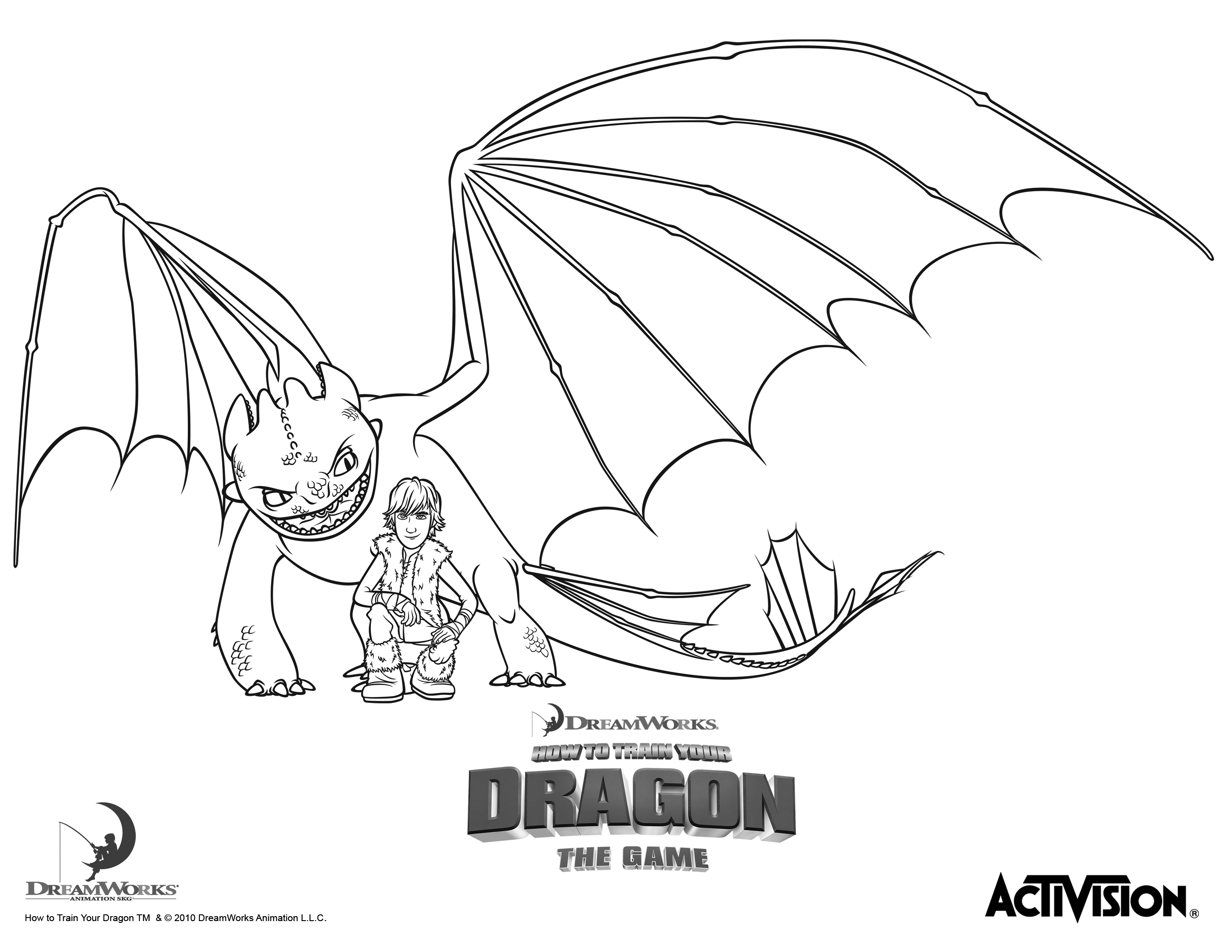 How to train your dragon clipart black and white.