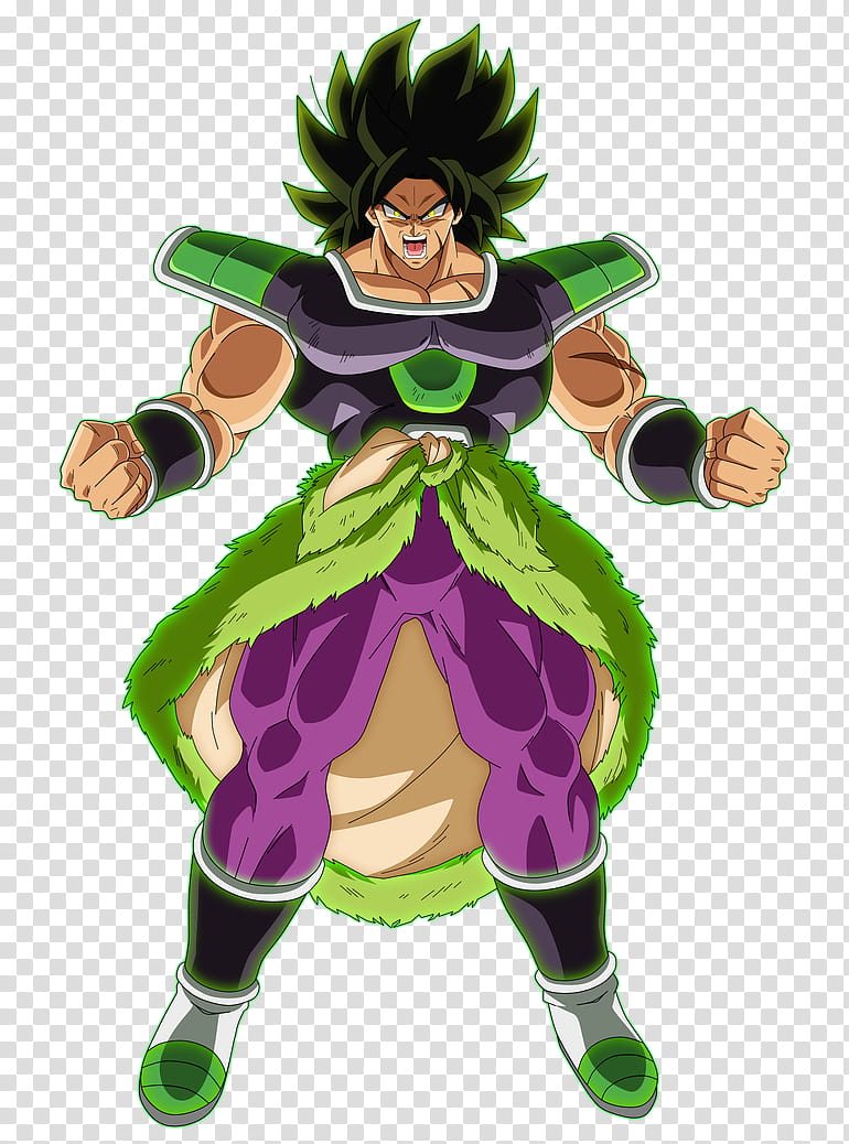 Broly Fury, Dragon Ball Z character transparent background.