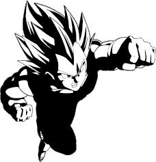 Dragon Ball Z Vegeta Clipart.