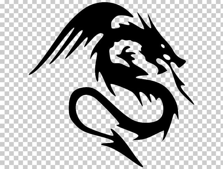 Dragon Black And White PNG, Clipart, Artistic, Beak, Black, Blog.