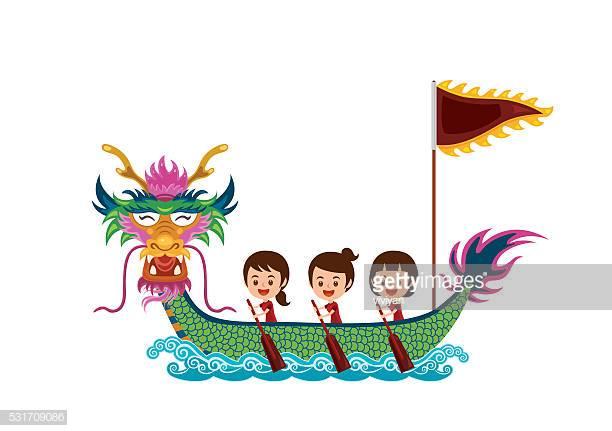 60 Top Dragon Boat Racing Stock Illustrations, Clip art, Cartoons.