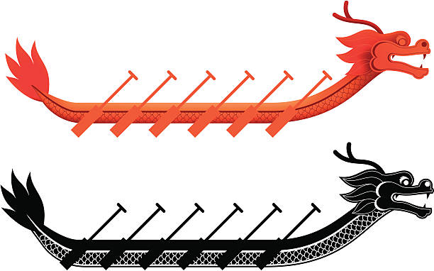 Best Dragon Boat Racing Illustrations, Royalty.