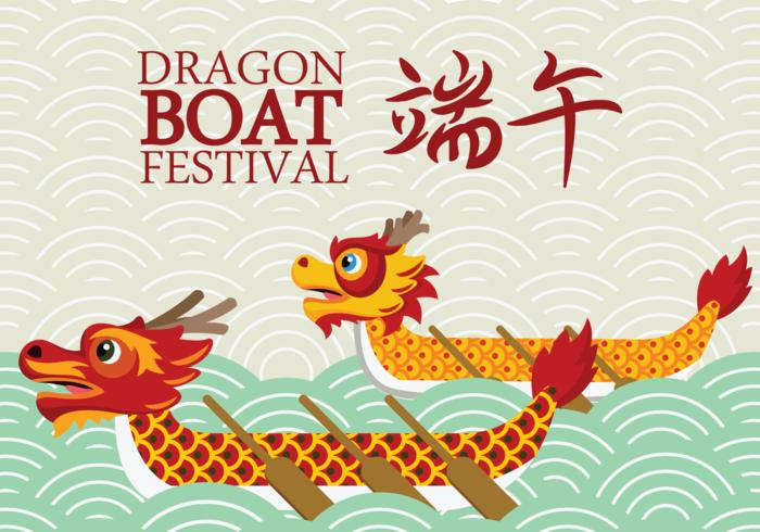 Dragon Boat Festival Free Vector Art.