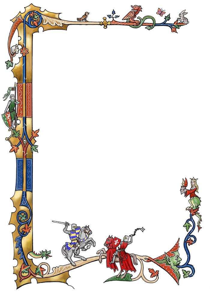 Dragon Border Cliparts 23.