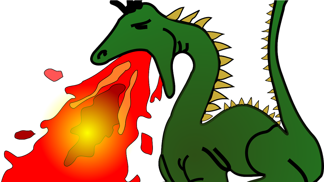 Dragon Breathing Fire Clipart.