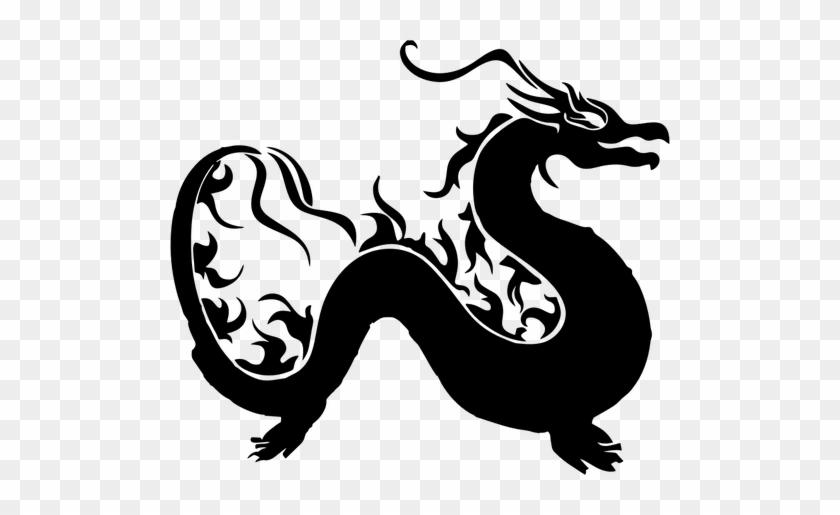 6987 Chinese Dragon Silhouette Clip Art Public Domain.