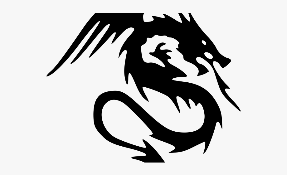 Dragon Tattoos Clipart Medium.