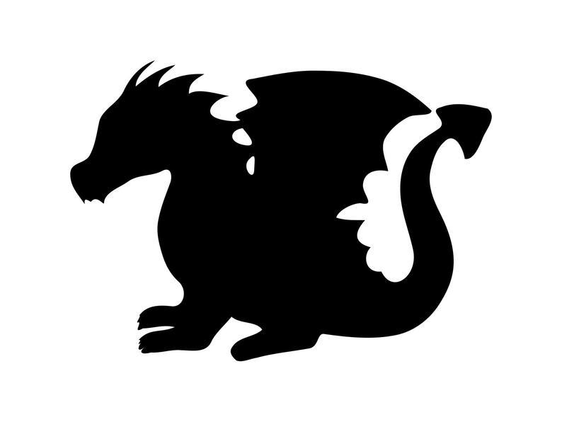 Dragon Svg, Baby Dragon Svg, Dragon Clipart Svg, Dxf Png Art Cnc Laser Cut  File Tshirt Vector Clip Art.