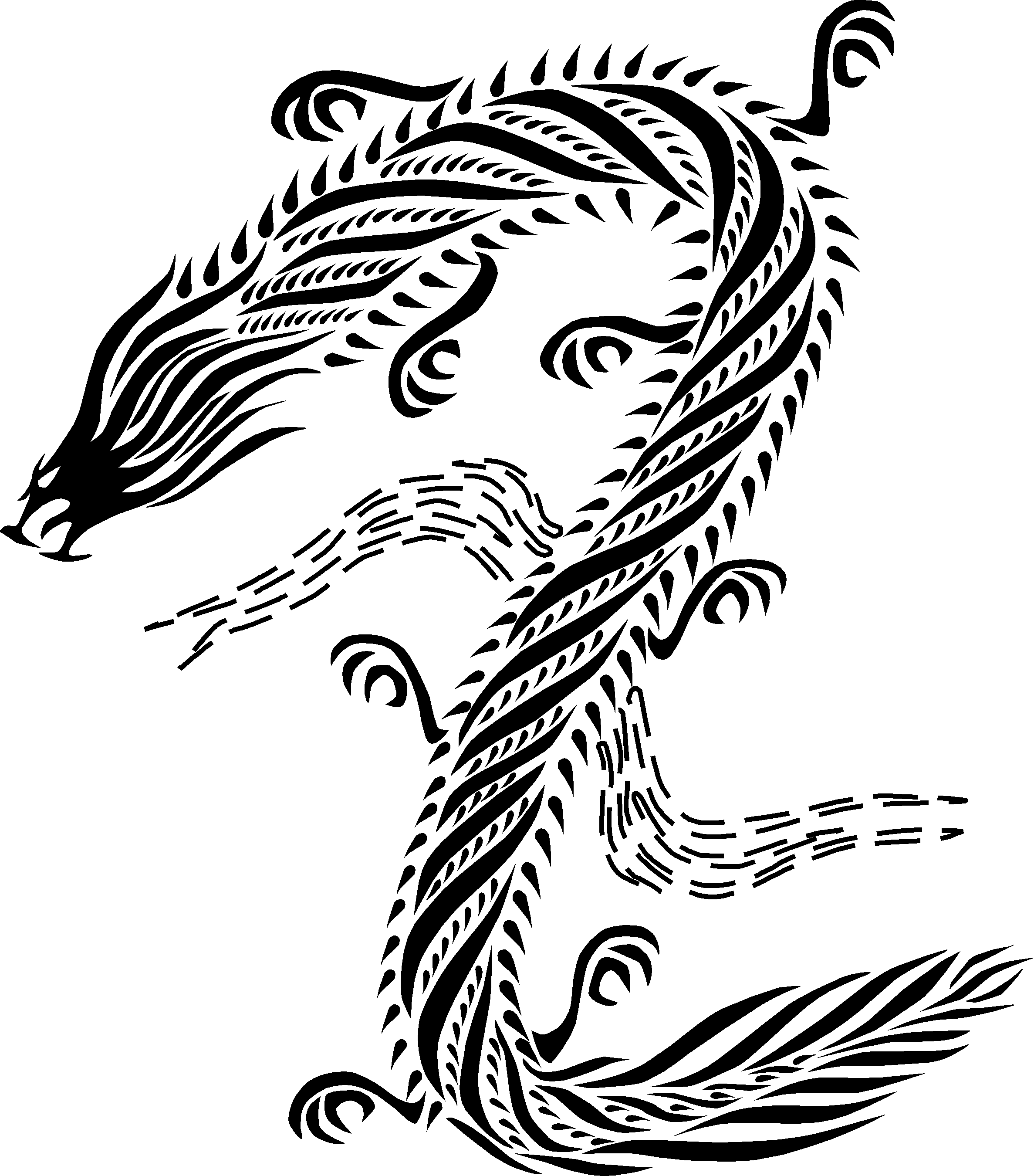 Free Chinese Dragon Images Black And White, Download Free Clip Art.
