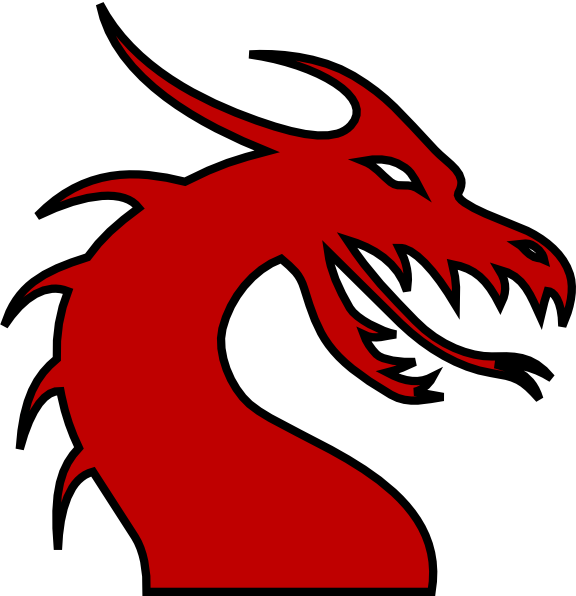12590 Dragon free clipart.