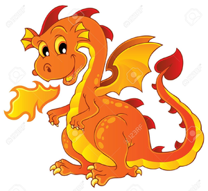 Free Fire Breathing Dragon Clipart.