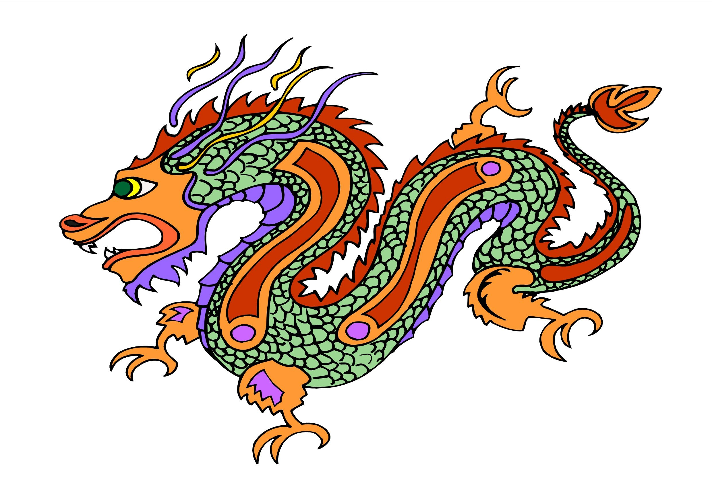 Chinese dragon clipart Unique Chinese Dragon Free Free Download Clip.