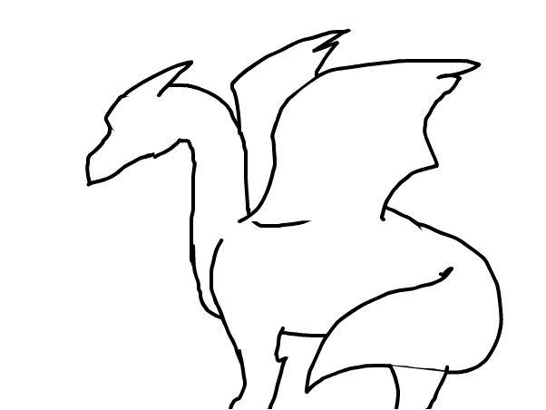 Dragon outline.