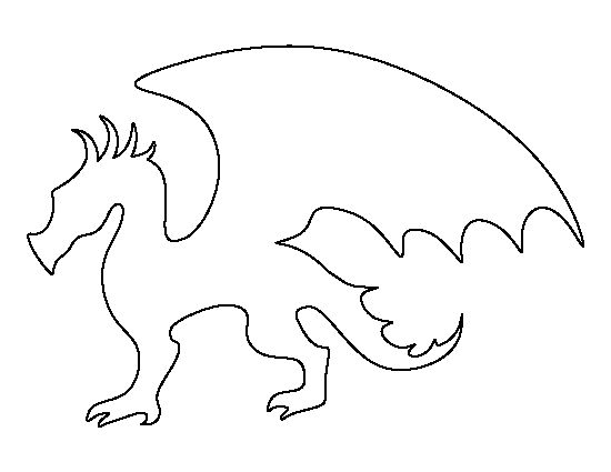 simple dragon outline.