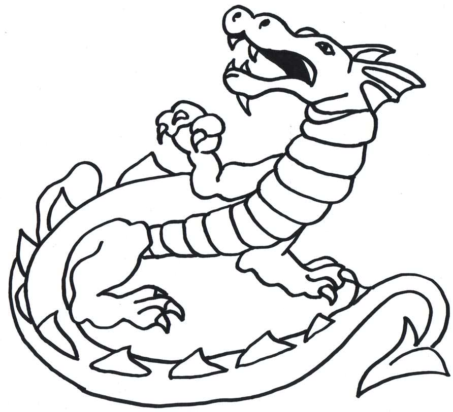 Free Simple Dragon Outline, Download Free Clip Art, Free.