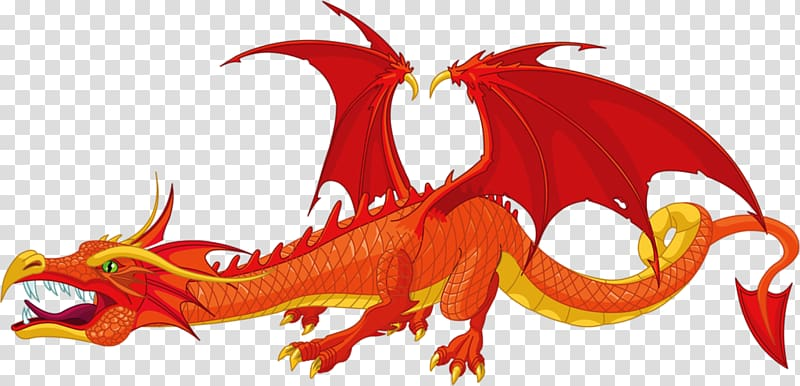 Dragon , Red Dragon transparent background PNG clipart.
