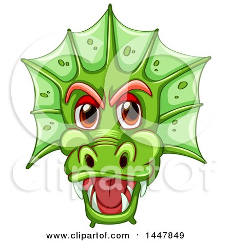 Dragon face clipart 2 » Clipart Station.