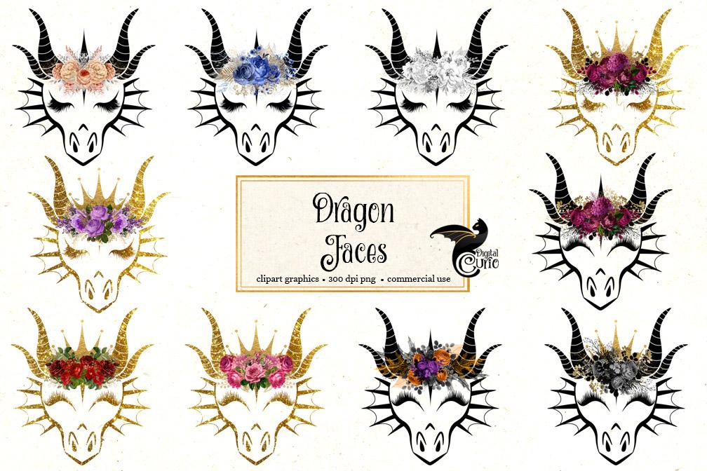 Dragon Face Clipart.