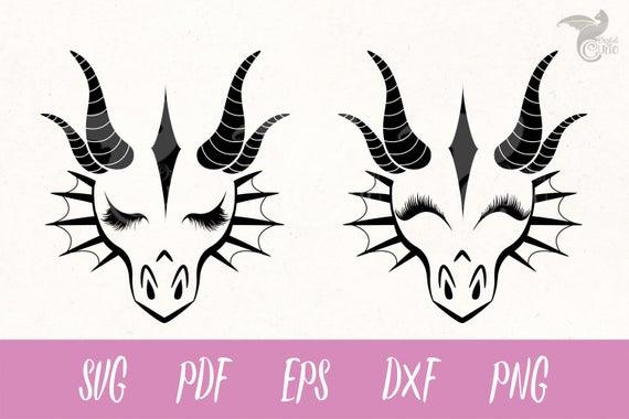 Dragon Faces SVG, dragon svg, Eyelashes svg, dragon clipart, Cricut, Cameo,  Cut file, Clipart, Svg, DXF, Png, Pdf, Eps.