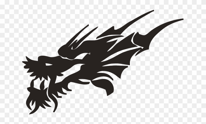 Lion Tattoo Clipart Black Dragon Face.