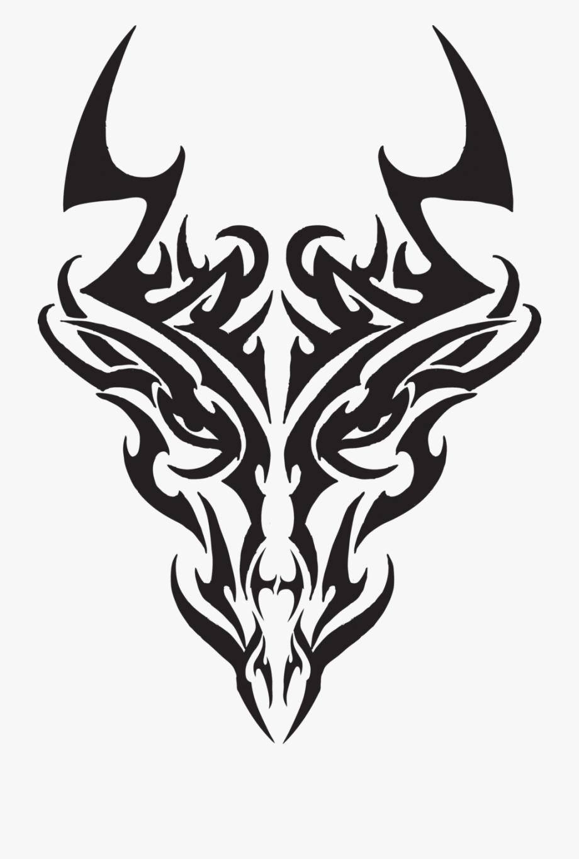 Dragon Face Tattoo.