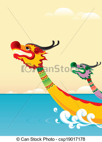 Vectors Illustration of Dragon boat festival background.