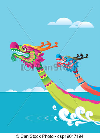 EPS Vectors of Dragon boat festival background.