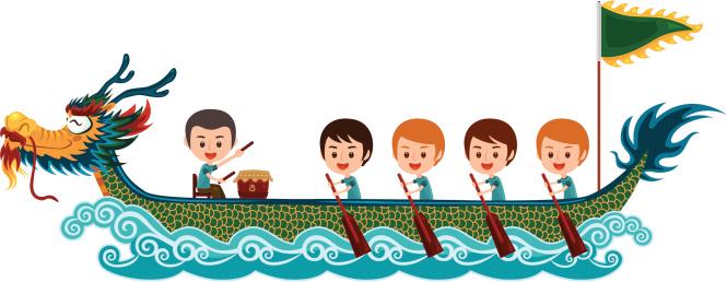 Dragon boat race clipart.