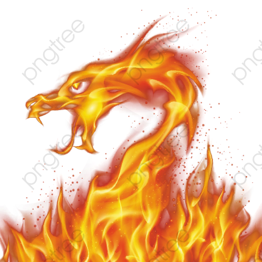 Light Dragon Flame, Dragon Clipart, Flame Clipart, Red Light Effect.