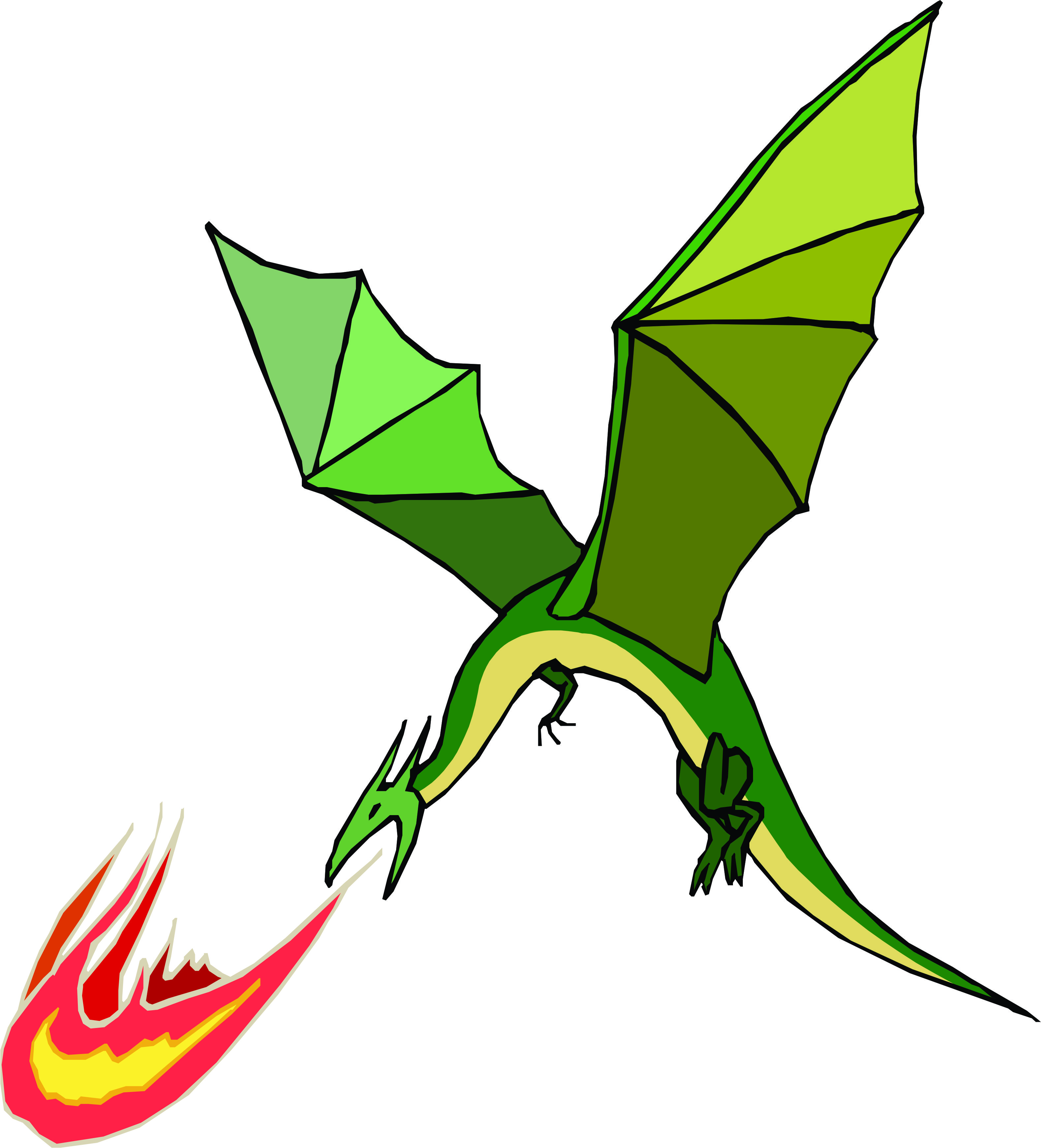 Free Fire Breathing Dragon Images, Download Free Clip Art.